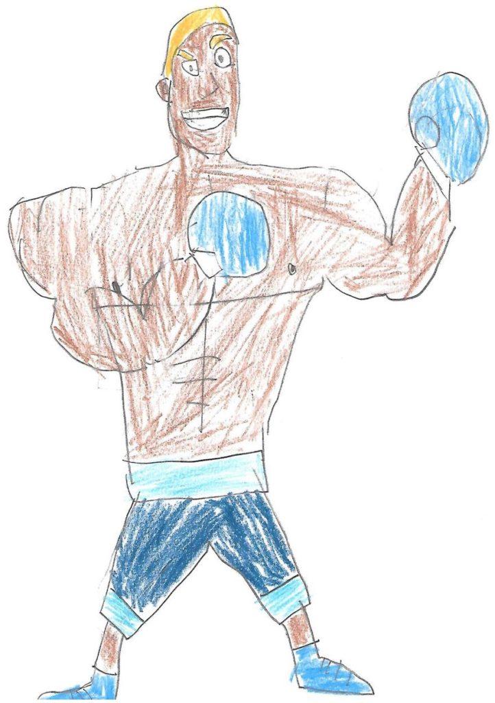 Kid sketch of boxer